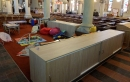 New cupboards have been built in the church and also in the hall