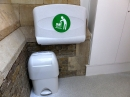 The baby changing facilities in the accessible toilet