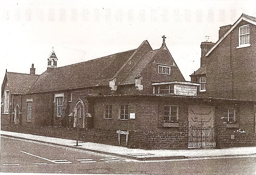 The old Church hall, built in 1882, demolished 1972, gave its name to Church Street