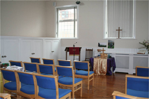 Brailsford Methodist Church interior