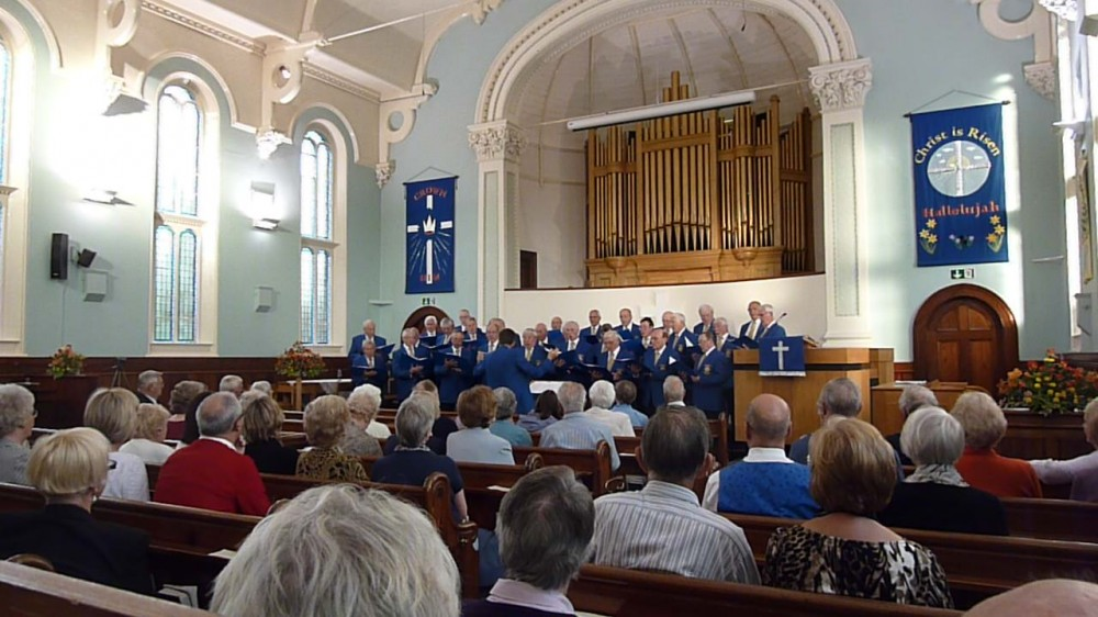 Photo of Castleford Male Voice Choir at Ashbourne Methodist Church in 2013.