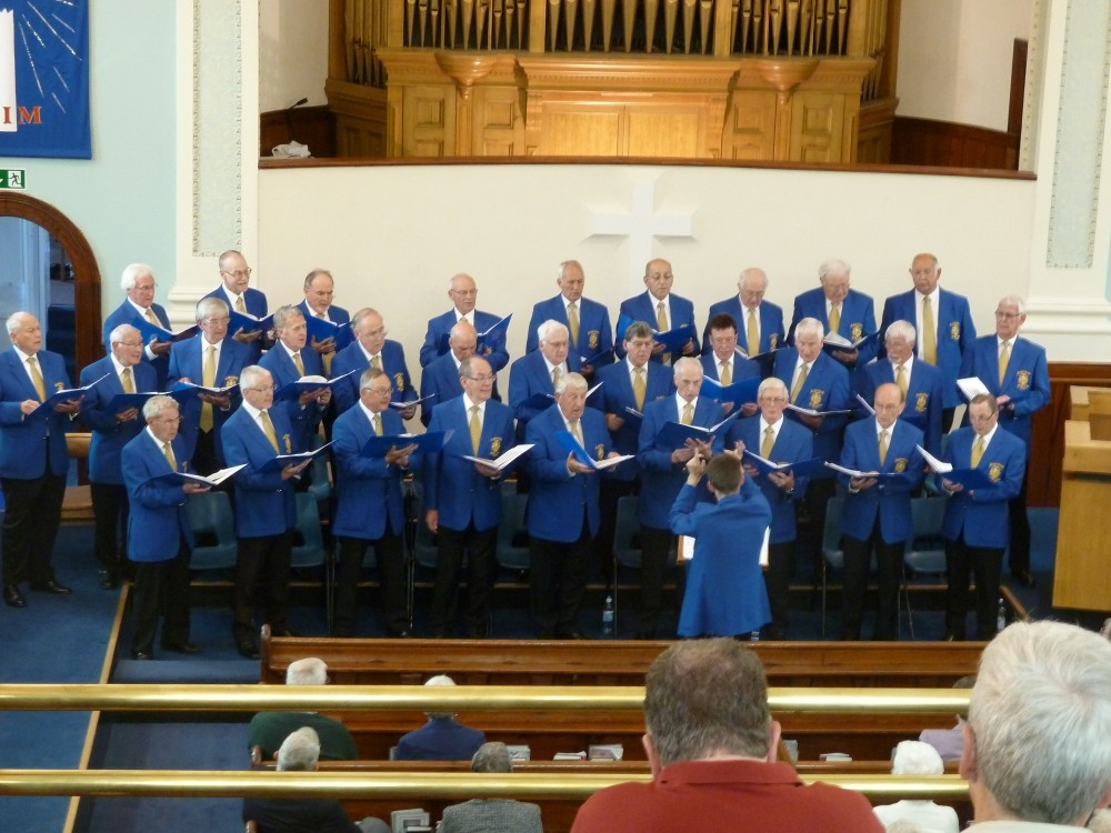 Photo of Castleford Male Voice Choir Concert at Ashbourne Methodist Church in 2013