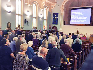 Photo of a worship service at Ashbourne Methodist Church