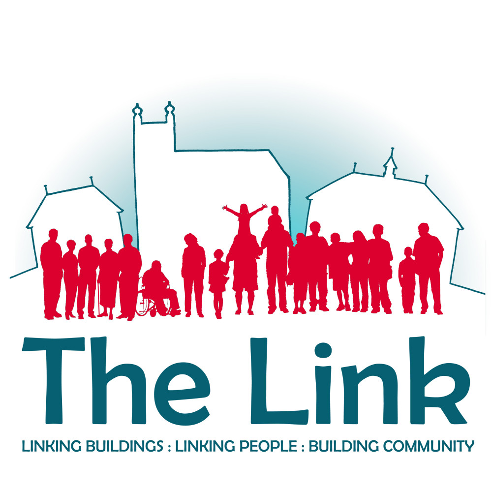 Logo for The Link with text which says Linking Buildings, Linking People, Building Community