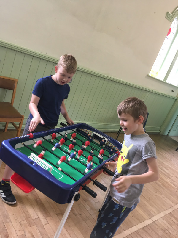 A bit of table football