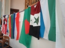 Some more of the flags at our world mission service