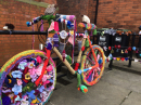 Yarnbombing at the front of the church