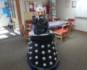 Davros in the Coffee Lounge, an unusual visitor to Ruislip Manor
