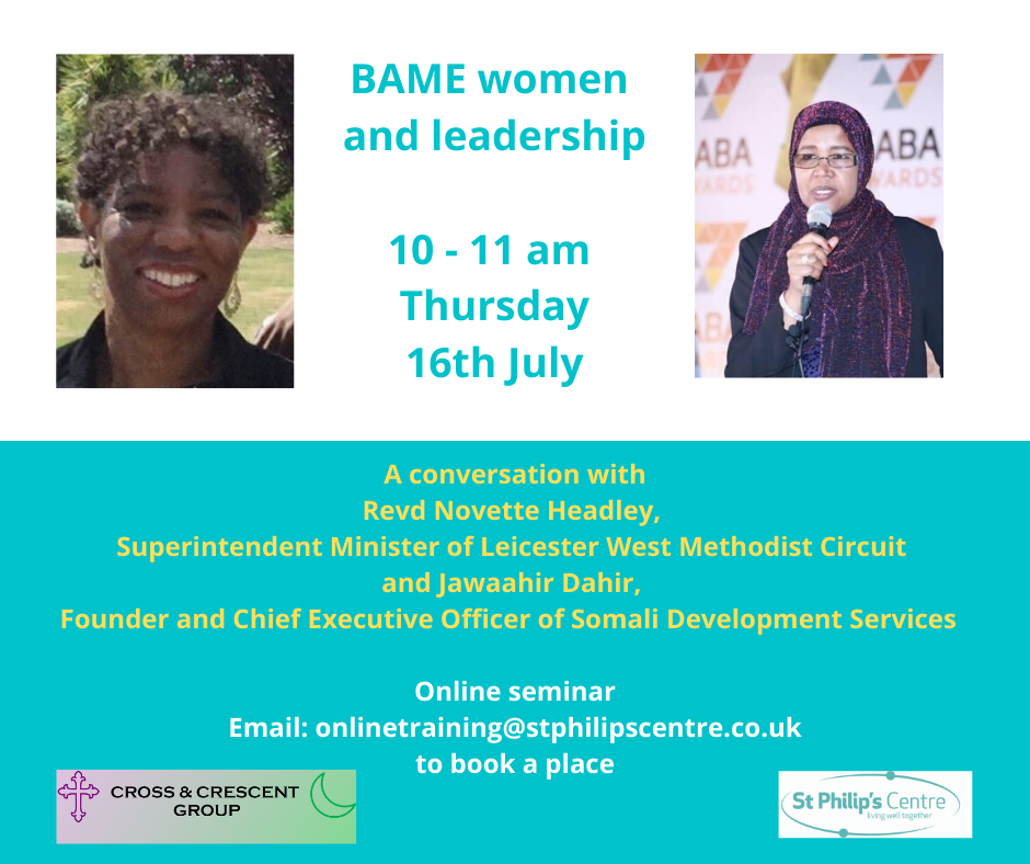 BAME Women and Leadership event details