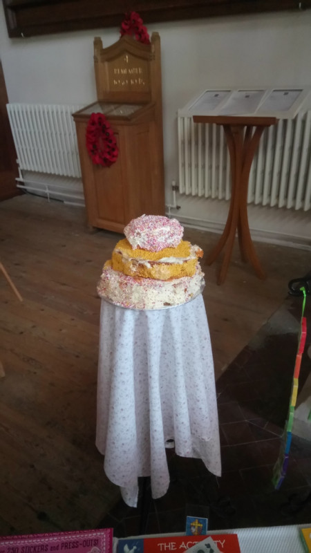 A SPECIAL LEAVING CAKE MADE BY THE CHILDREN