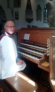 Timothy Rice at the organ of St. John's, Boldre