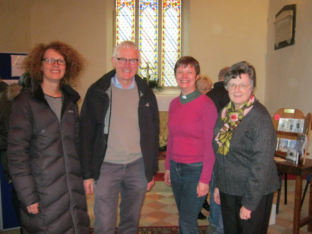 Norman Lamb MP at the December open morning at Sutton Church