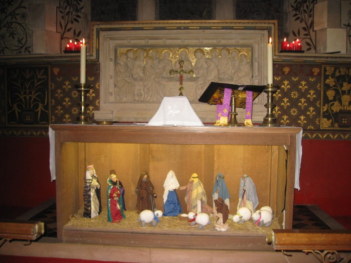 The altar used as the scene for the nativity