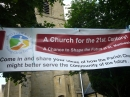 Banner outside church