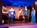 Prince Charming, Dandini, the Chamberlain, the brokers men and the Villagers