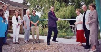 Bishop Paul opens the Peace Garden 2006