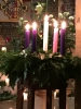 Our Christmas Candles on Christmas Day
