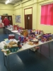 Food waiting to be put into hampers