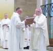 Apostolic Blessing Presented by Bishop Declan to Fr Eugene Campbell (Parish Priest)
