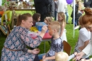Face painting's always popular