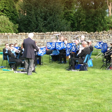 Pentecost in the vicarage garden 2015 with Bilsdale Silver Band