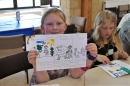 Colouring in stories at Messy Church