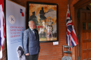 Colin Hughes, Royal British Legion Chairman with painting of WWI