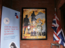 Memorial Chapel Entrance and the WWI painting by HMP Kennet