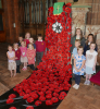 Holiday Club and Messy Church Children who made the poppies