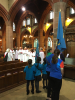 Guides and Rainbows on Parade for Remembrance Sunday