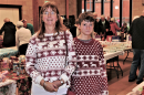 Great Christmas jumpers!  Zoe and Elizabeth