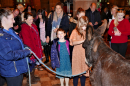 Bobby the Donkey at the Crib Service