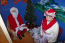 Father Christmas and Mother Christmas in the Grotto