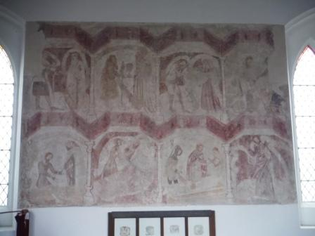 Wall painting - the seven acts of mercy