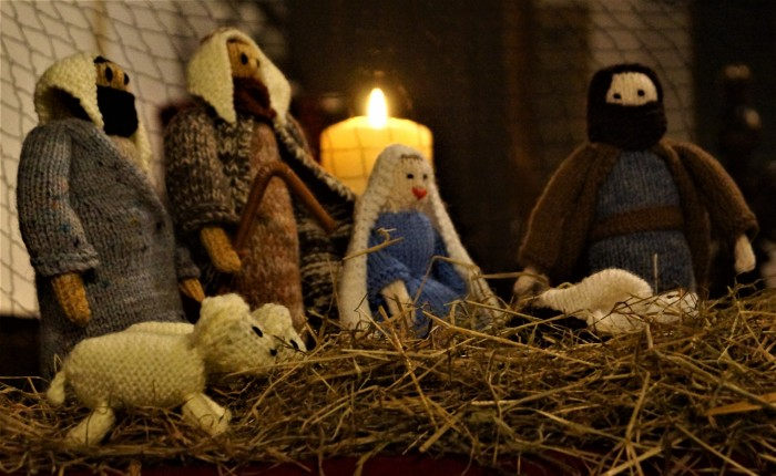 Crib at Cantley Carol Service 2016