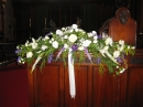 St. George's Church Choir Stall wedding flowers