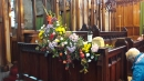 Harvest display adorning the choir stalls