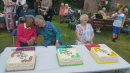 Isabel, May and Mary - enjoying their birthday party