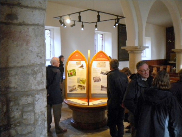 The permanent exhibition of local heritage in Fewston Church