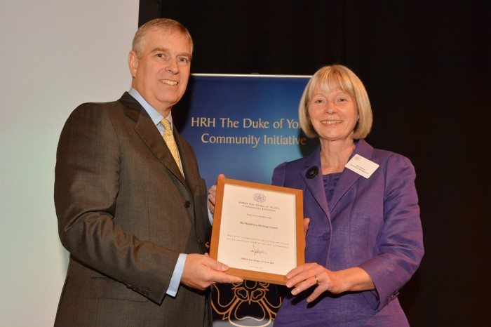 Being awarded the Duke of York's Community Initiative June 2015