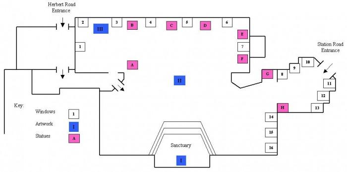 CATHOLIC CHURCH of SAINT AUGUSTINE of ENGLAND | Plan of the