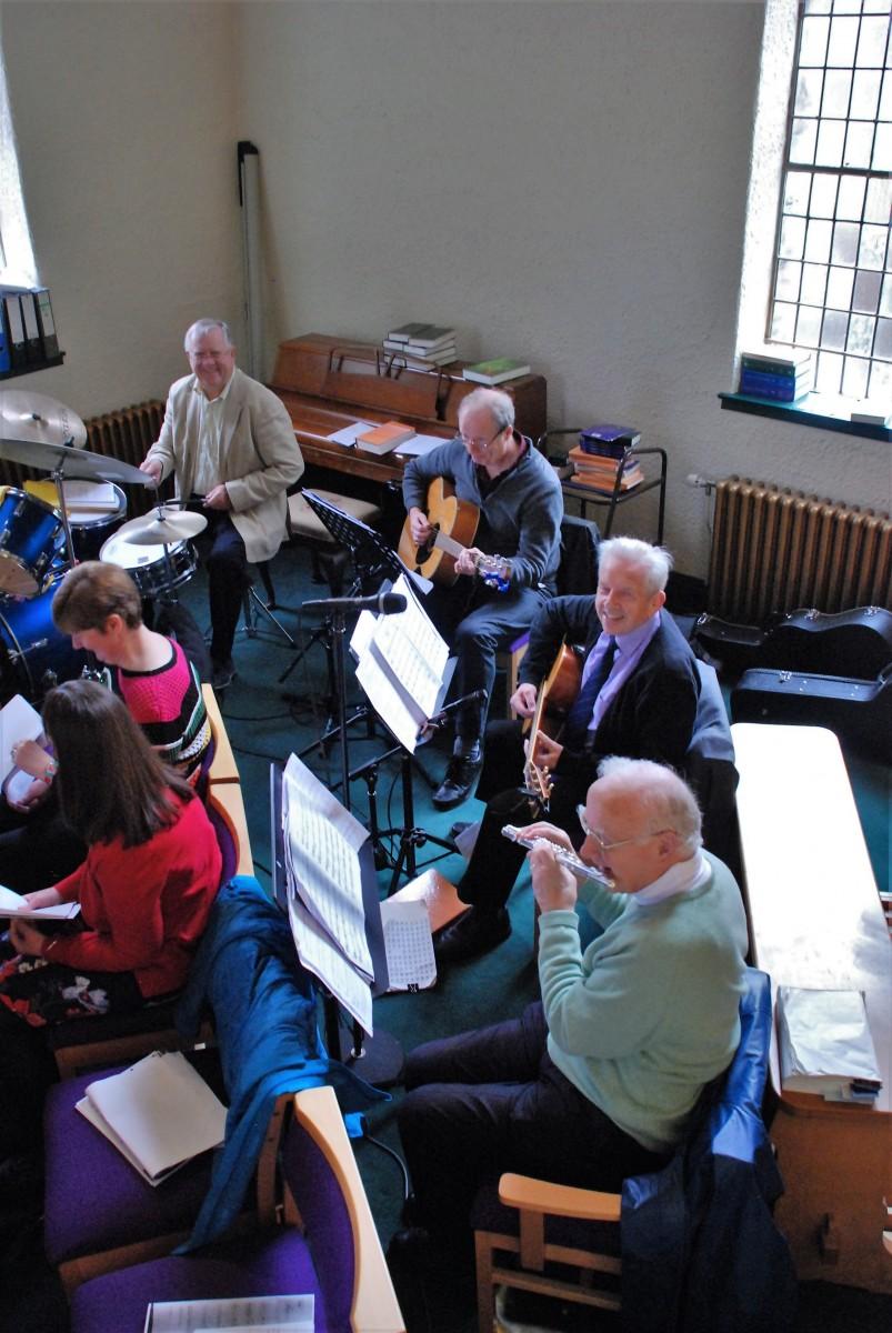 Praise band instrumentalists