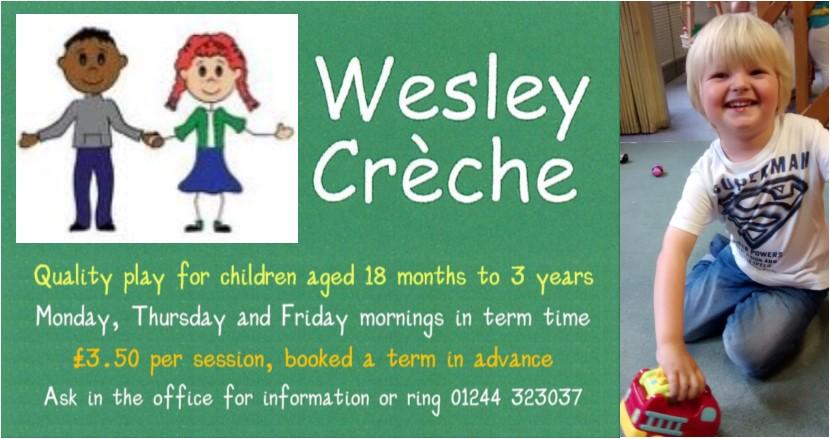Wesley Creche advert