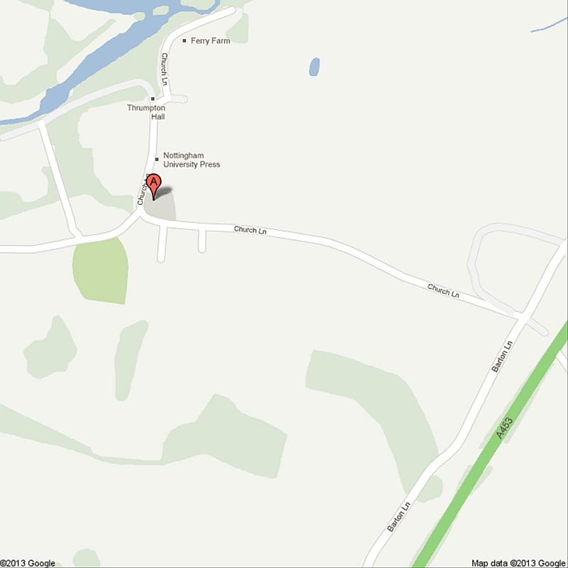 External link: To Google Map of All Saints, Thrumpton