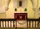The sanctuary was decorated with a beautiful altar frontal