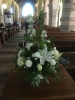 Wedding flowers and pew ends