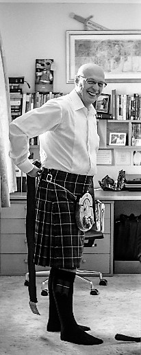 Peter Angus in a kilt