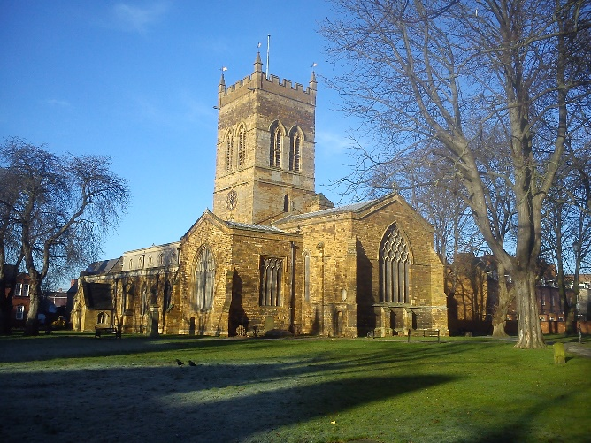 View of South side of St Giles Church