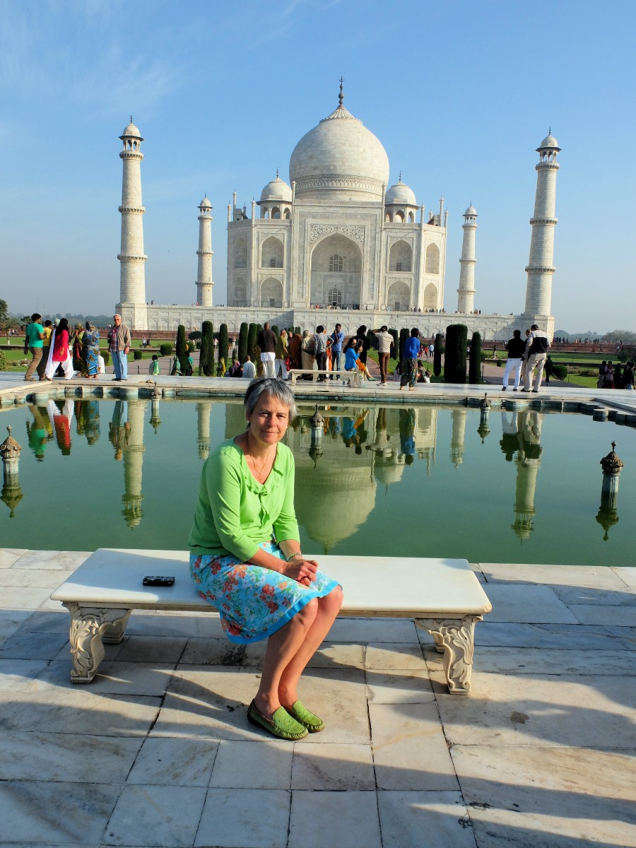 Diana at the Taj Mahal in India