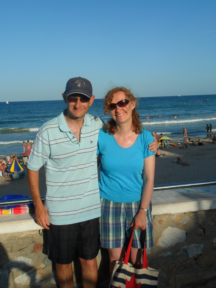 Dave and Jo by the sea